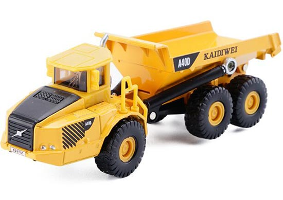 Kids Bright Yellow 1:87 Scale Die-Cast Dump Tip Truck Toy