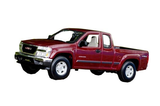 Blue / Wine Red 1:18 Diecast 2004 GMC Canyon Pickup Model
