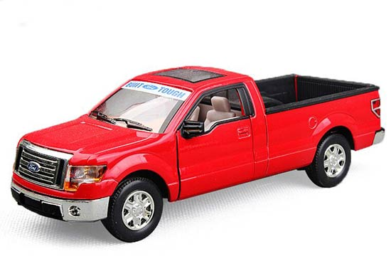 Red / White / Blue 1:32 Scale Diecast Ford F150 Pickup Truck Toy