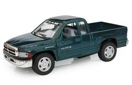 Kids Red / Green /Black Die-Cast Dodge RAM 1500 Pickup Truck Toy
