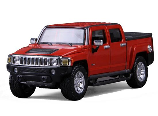 Black / Red 1:26 Diecast 2009 Hummer H3T Pickup Truck Model