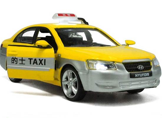 1:32 Scale Kid Red /Blue /Yellow Beijing Hyundai Sonata Taxi Toy