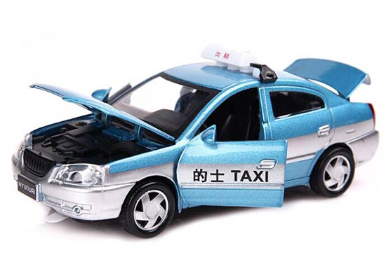 Kids 1:32 Scale Blue / Red / Yellow Diecast Beijing Taxi Toy