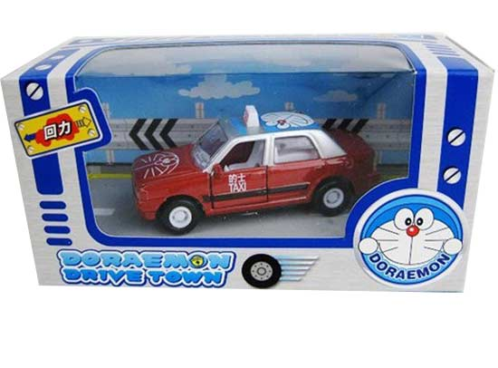 Mini Scale Red / Green Doraemon Theme Taxi Toy