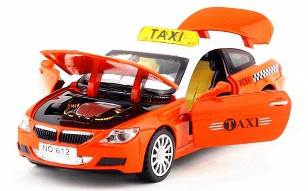 1:32 Scale Kids Yellow/ Orange / Green BMW M6 Taxi Toy