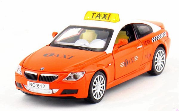 1:32 Kids Yellow/ Orange / Green Diecast BMW M6 Taxi Toy