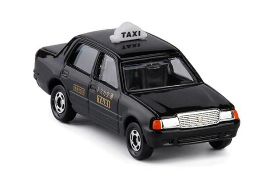 1:63 Mini Scale Black TOMY NO.51 Die-cast Toyota Crown Taxi Toy