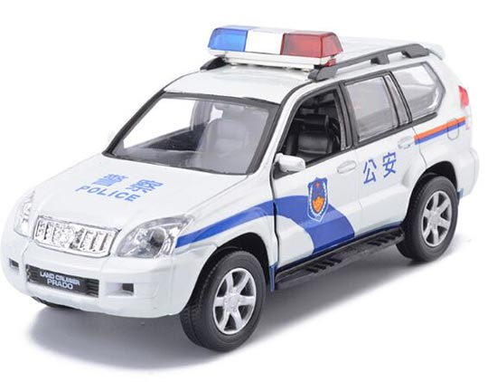 White Kids 1:32 Scale Police Toyota LAND CRUISER PRADO Toy