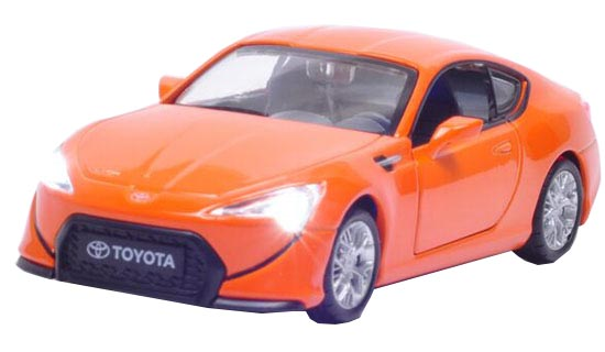 Kids White / Black / Red / Orange 1:32 Scale Toyota Sports Car