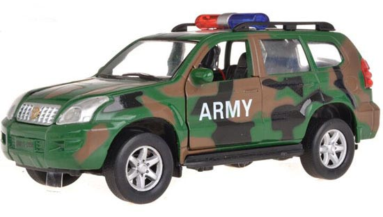 Kids Army Green 1:32 Scale Toyota Prado Toy
