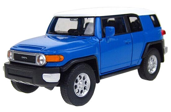 Yellow / Blue Kids 1:36 Welly Diecast Toyota FJ Cruiser Toy