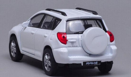 White 1 36 Scale Welly Diecast Toyota Rav4 Toy Ty1t023