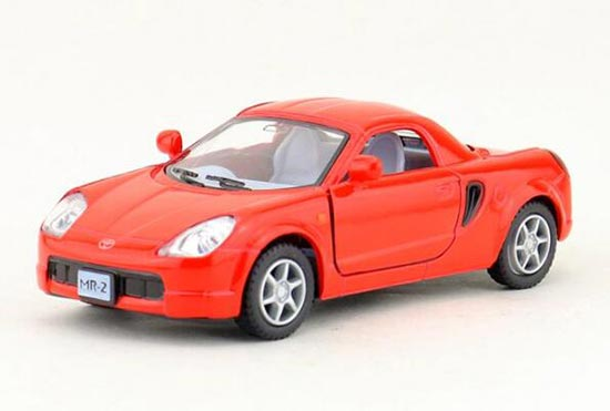 Kids 1:32 Scale White / Red / Yellow / Blue Diecast Toyota MR2