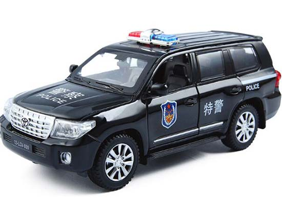 White 1:32 Scale Police Theme Kids Diecast Toyota Land Cruiser