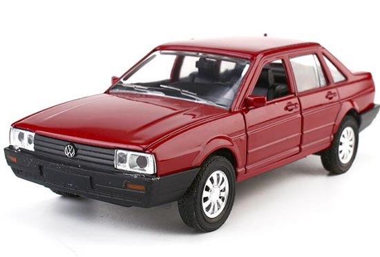 Kids Black / White / Red 1:32 Scale Diecast VW Santana Toy