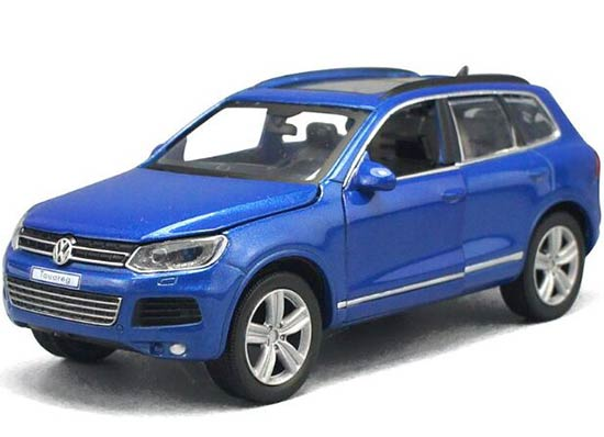 Kids 1:32 Scale Black /Red /White / Blue Diecast VW Touareg Toy