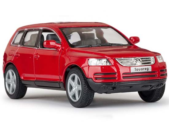 Kids 1:38 Black / Red / Gray / Silver Diecast VW Touareg Toy