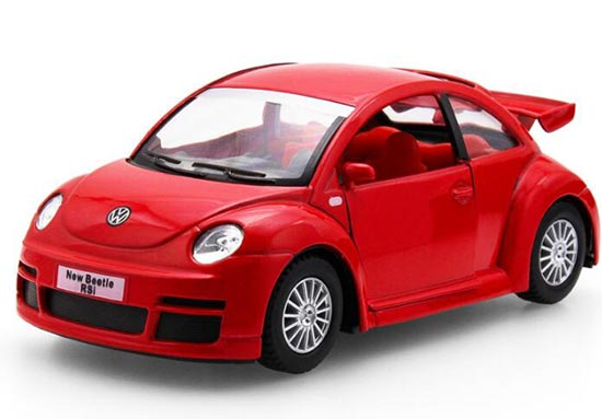 1:36 Silver / Black / Red / Blue Diecast VW New Beetle RSI Toy