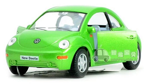 Red / Yellow / Green 1:36 Scale Diecast VW New Beetle Toy