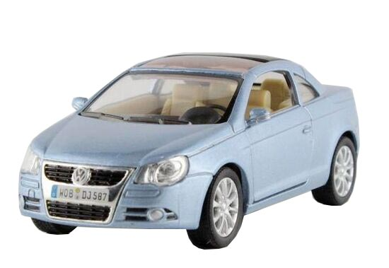Silver / Light Blue / Red / Yellow 1:36 Diecast VW EOS Toy