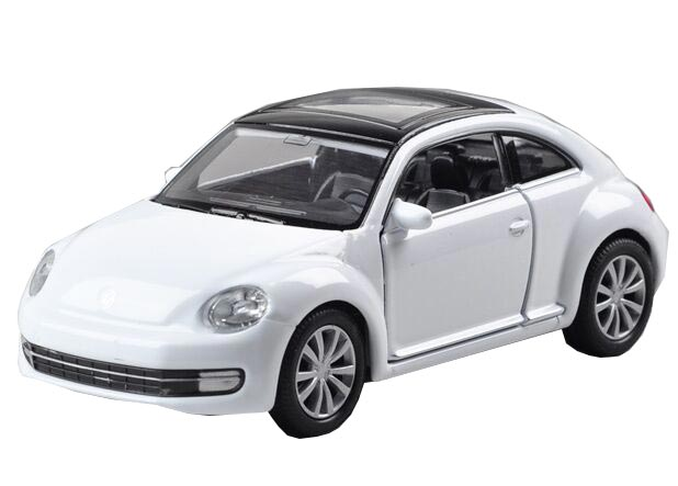 Welly Kids 1:36 White / Yellow /Red Diecast VW New Beetle Toy