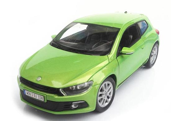 White / Green 1:36 Scale Kids Welly Diecast VW Scirocco Toy