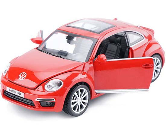 1:32 Scale Green / Blue / Red /Yellow Diecast VW Beetle GSR Toy