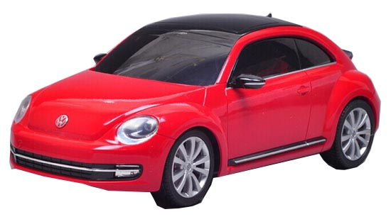 Welly White / Red 1:24 Scale Kids R/C VW New Beetle Toy