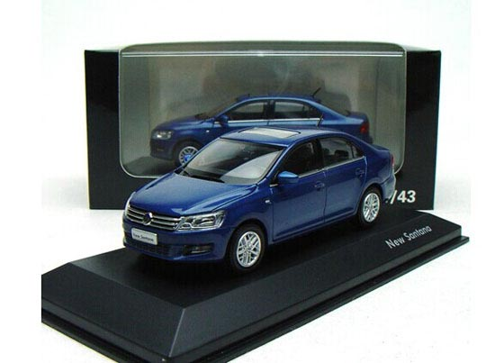 Champagne / Blue / Gray 1:43 Diecast VW New Santana Model