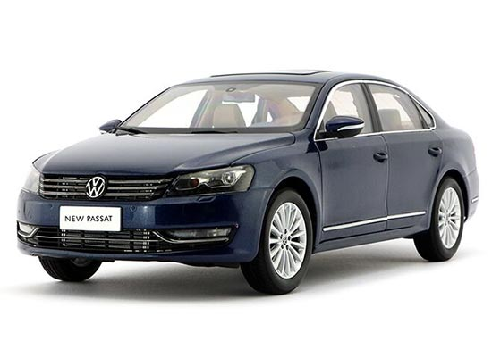 Blue / Gray / Black 1:18 Scale Die-Cast VW New Passat Model