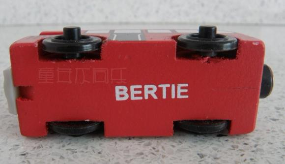 Kids Red Wooden BERTIE Bus Toy with Magnet