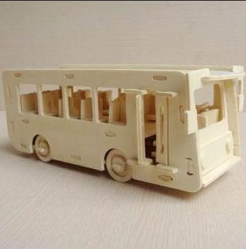 DIY 1:48 Scale Assembly Wooden Bus