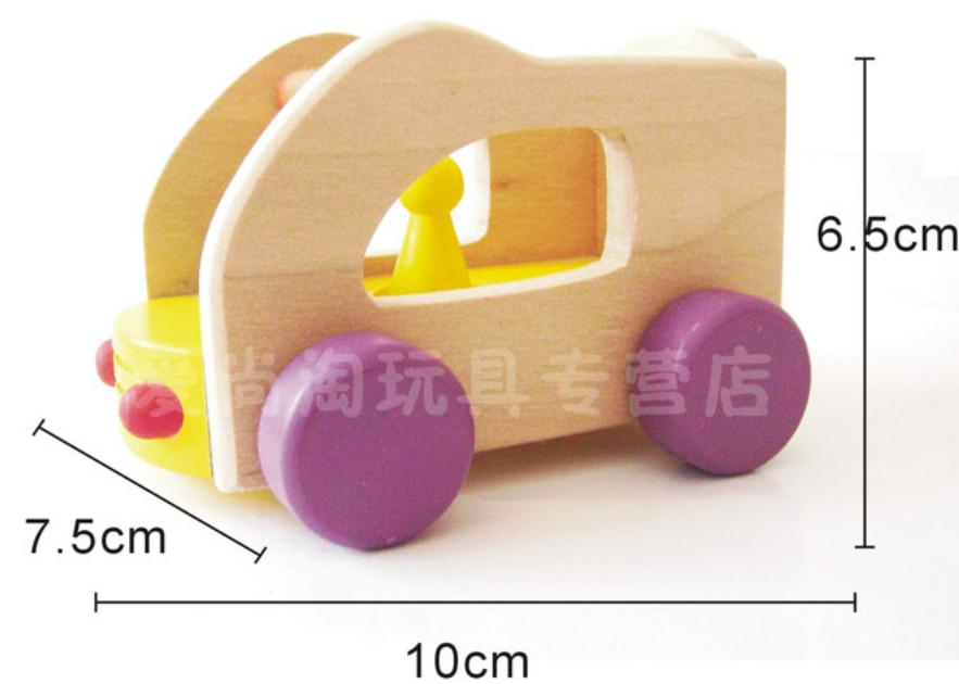 Mini Scale Cartoon Kids Educational Wooden Toy